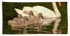 Family Swan  Beach Sheet