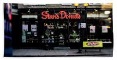 Famous Chicago Donut Shop Beach Towel