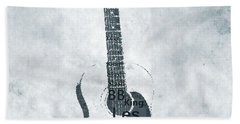 Famous Guitarists Typography Cool Beach Towel by Dan Sproul