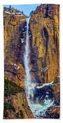 Famous Yosemite Upper Falls Beach Towel