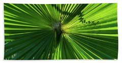 Fan Palm View Beach Sheet by James Gay