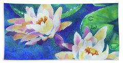 Fancy Waterlilies Beach Towel