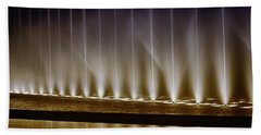 Fanfare Fountains Beach Sheet by Joseph Hollingsworth