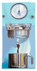 Beach Towel featuring the painting Fantasy Espresso Machine by Marian Cates