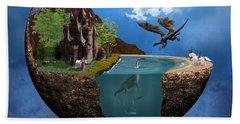 Fantasy Planet 1 Beach Towel