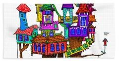 Fantasy Treehouse Beach Sheet by Debra Baldwin