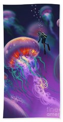 Fantasy Underworld Beach Towel