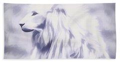 Fantasy White Lion Beach Towel