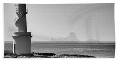 Far De La Savina Lighthouse, Formentera Beach Towel
