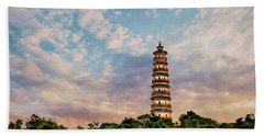 Far Distant Pagoda Beach Towel