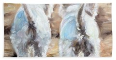 West Highland White Terrier Paintings Beach Towels