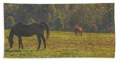 1012 - Fargo Road Horses I Beach Towel