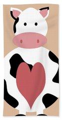 Farm Animals - Cow Beach Towel