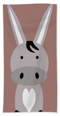 Farm Animals - Donkey Beach Towel