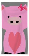 Farm Animals - Pig Beach Towel
