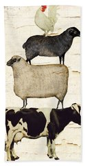 Farm Animals Pileup Beach Towel