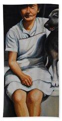 Farm Dog Beach Sheet by Jean Cormier