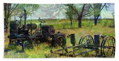 Farm Equipment Beach Towel