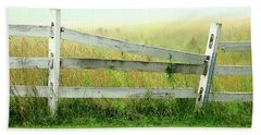 Farm Fence Beach Towel