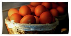 Farm Fresh Brown Eggs Beach Sheet
