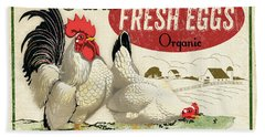Farm Fresh Eggs-a Beach Towel
