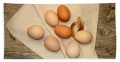 Farm Fresh Eggs Beach Towel