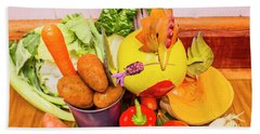Farm Fresh Produce Beach Towel