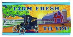 Farm Fresh To You  Beach Towel