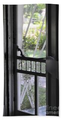 Farm House Screen Door Beach Sheet