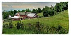 Farm In West Newbury Vermont Beach Sheet