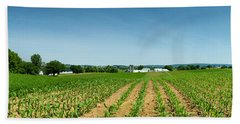 Farm Panorama Beach Towel