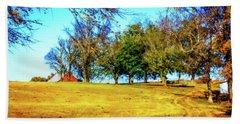 Farm Road - Fall Landscape Beach Towel