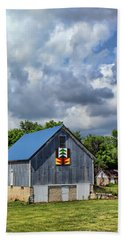 Farm Scene - Barns - Nebraska Beach Towel