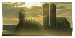 Farm Sunrise #3 Beach Towel