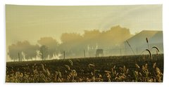 Farm Sunrise #4 Beach Towel