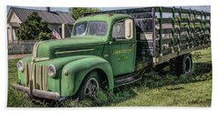 Farm Truck Beach Towel