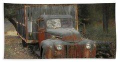 Farm Truck Beach Sheet