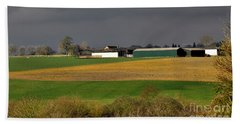 Beach Towel featuring the photograph Farm View by Jeremy Hayden