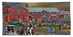Farm Way In Autumn Beach Towel by Nancy Griswold