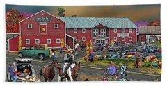 Farm Way In Autumn Beach Sheet