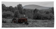 Beach Towel featuring the photograph Farmall Tractor - Dedham Maine by Kirkodd Photography Of New England