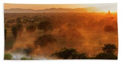 Farmer Returning To Village In The Evening Beach Towel