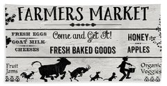 Farmers Market-b Beach Towel