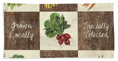 Farmer's Market Patch Beach Towel by Debbie DeWitt
