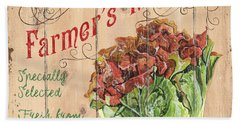 Farmer's Market Sign Beach Towel by Debbie DeWitt