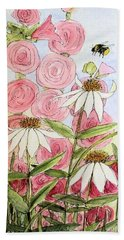 Farmhouse Garden Beach Towel