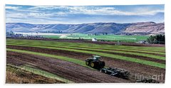 Farming In Pardise Agriculture Art By Kaylyn Franks Beach Towel