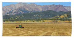 Farming In The Highlands Beach Towel by David Chandler