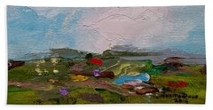 Farmland II Beach Sheet by Judith Rhue