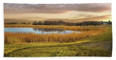 Farmland Pond Beach Towel